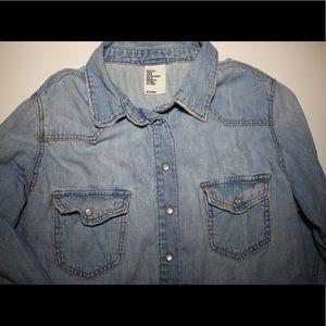 H&M Denim button up shirt